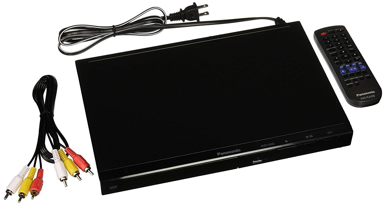 Panasonic DVD-S500 Region Free DVD Player 012345678 on Any TV. Worldwide USE. by Panasonic