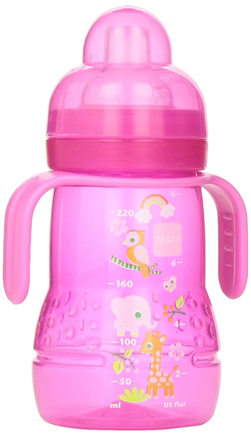 MAM Trainer Bottle with Handles, Girl, 4 Plus Months 8-Ounce, (For Girl) C5431-006-0-1