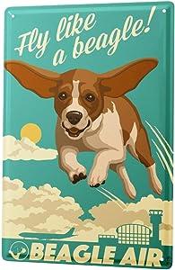 LEotiE SINCE 2004 Tin Sign Metal Plate Decorative Sign Home Decor Plaques Dog Beagle