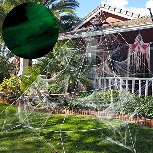 Unomor Giant Spider Web Glow in The Dark,