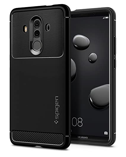 the latest 5d7b4 c9ca6 Spigen Rugged Armor Designed for Huawei Mate 10 Pro Case (2017) / Designed  for Mate 10 Porsche Design (2017) - Black