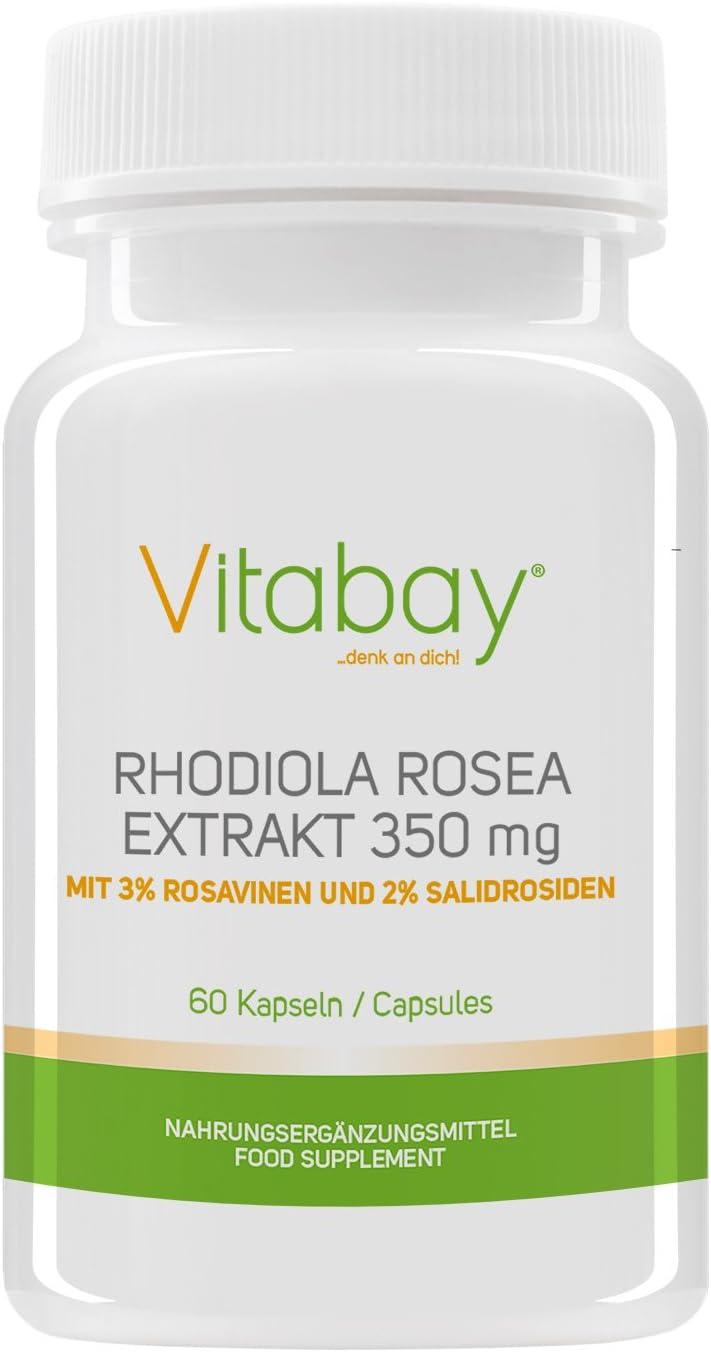 Rhodiola rosea - extracto de raíz de rosa - 350 mg - 3% de rosavin ...