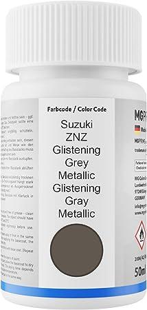 Mg Prime Autolack Lackstift Set Für Suzuki Znz Glistening Grey Metallic Glistening Gray Metallic Basislack Klarlack Je 50ml Auto