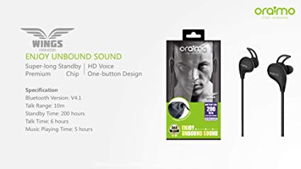 5bf79755942 ORAIMO Wings OEB-E53D Enjoy Unbound Sound: Amazon.in: Electronics