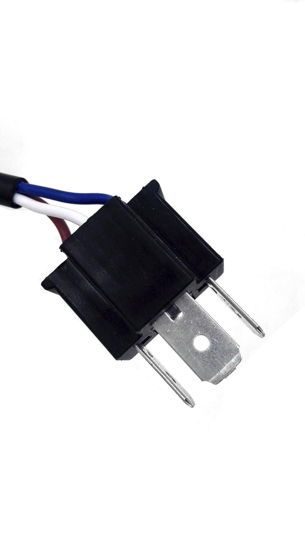 Turbo 2pcs Jeep H4 anti parpadeo arnés libre de errores descodificadores Compatible con cualquier 7 Inch Round LED faro sistemas Jeep Wrangler JK TJ Harley ...