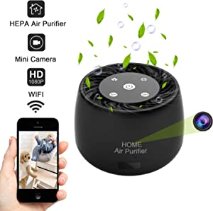 Wireless WiFi Hidden Spy Camera, QUNIAO 1080P Full HD with Night Vision and Motion Detection Alarm, Real Time Monitoring and Recording for Home/Car/Office, Video only Works with iOS/Android Device