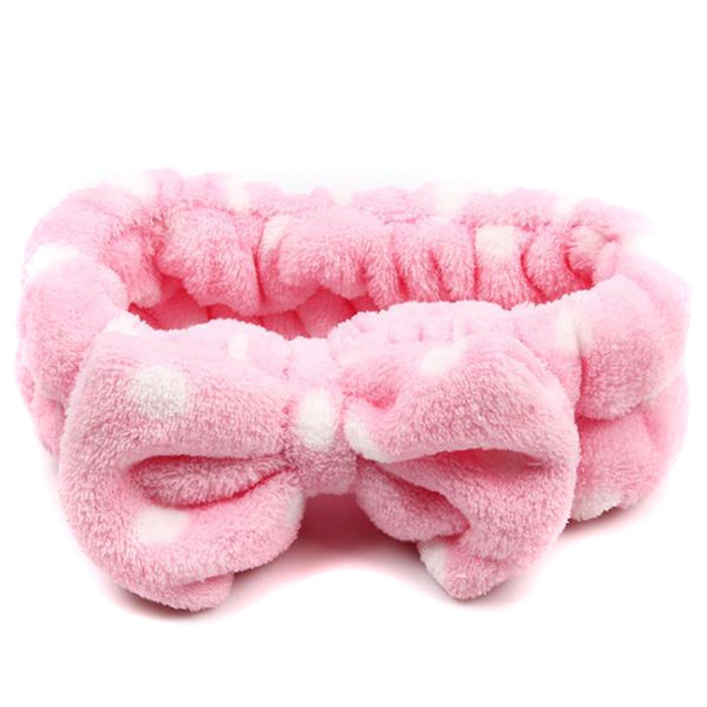 Korean Bowknot Headwear DIY Hair Headband for Sports Make up Hair Decoration (Rose)
