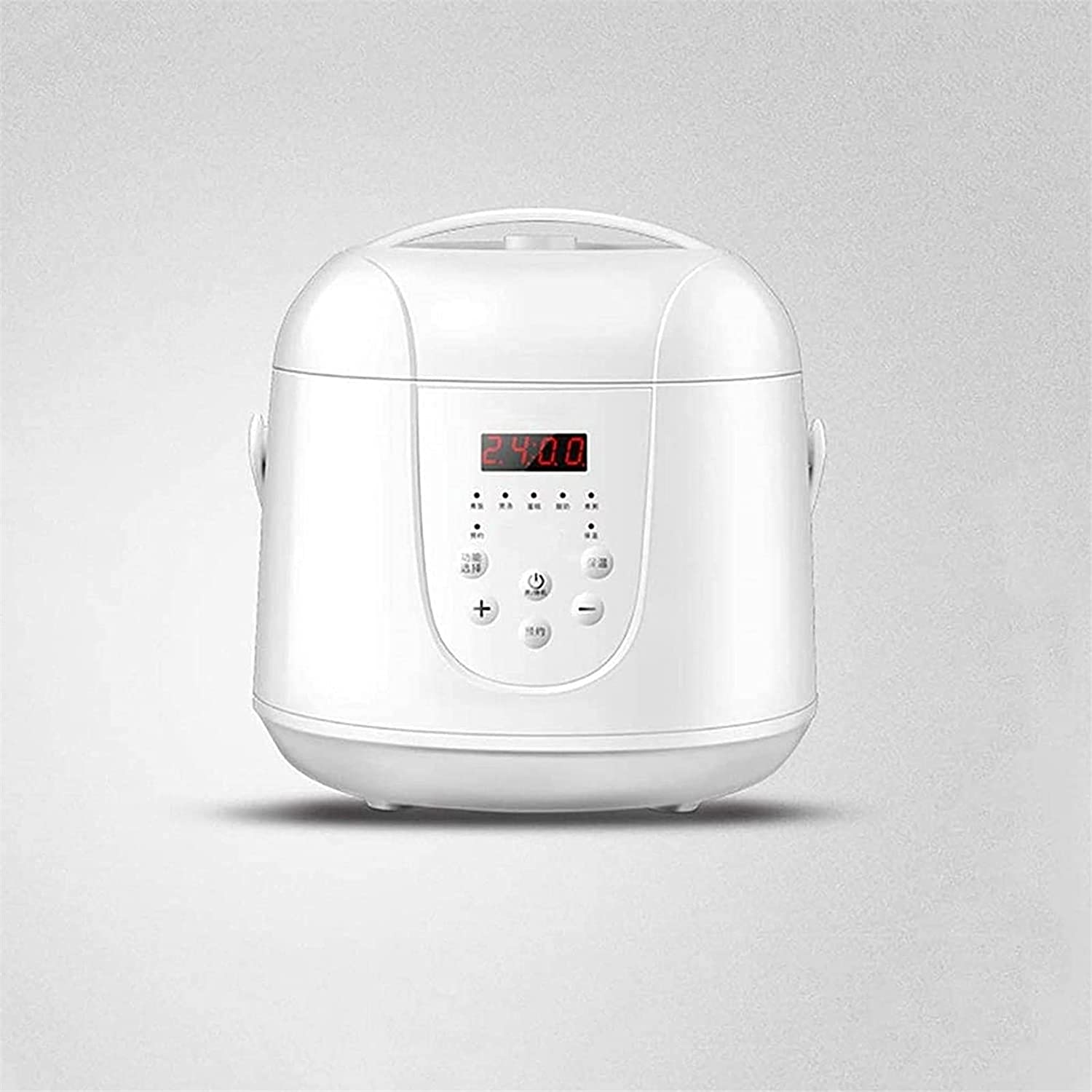 Pans for cooking 2.0L Rice Cooker Multifunction Rice Cooker Mini Rice Cooker Slow Cooker Steamer Yogurt Cake Maker and Warmer Quick Cooking for Home Kitchen (24 Person) (Color: Pink) (Color : White)