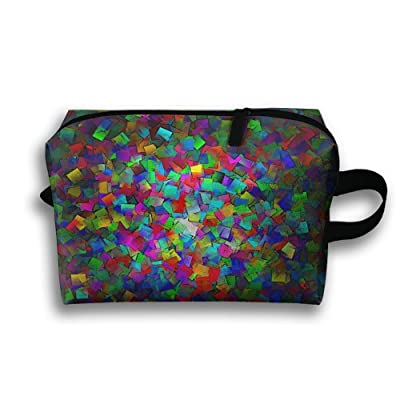 Colourful Abstract Dazzle Colour Multifunction Portable Pouch Waterproof Travel Bag