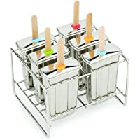 Fox Run Stainless Steel Popsicle Mold, Set of 6, Silver