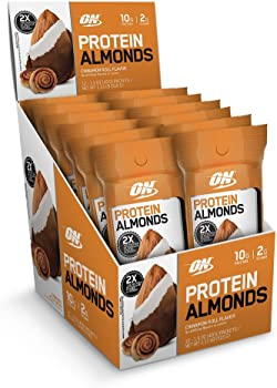12-Count Optimum Nutrition Whey Protein Almonds Snacks