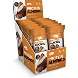 Optimum Nutrition NEW Protein Almonds Snacks, 10g of Protein per Serving, Cinnamon Roll, Travel To-Go 12 Count Packs