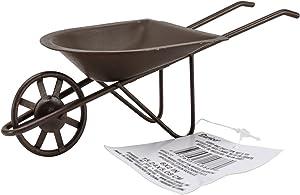 "Darice 6 by 2"" Tin Wheelbarrow (6552-77)"