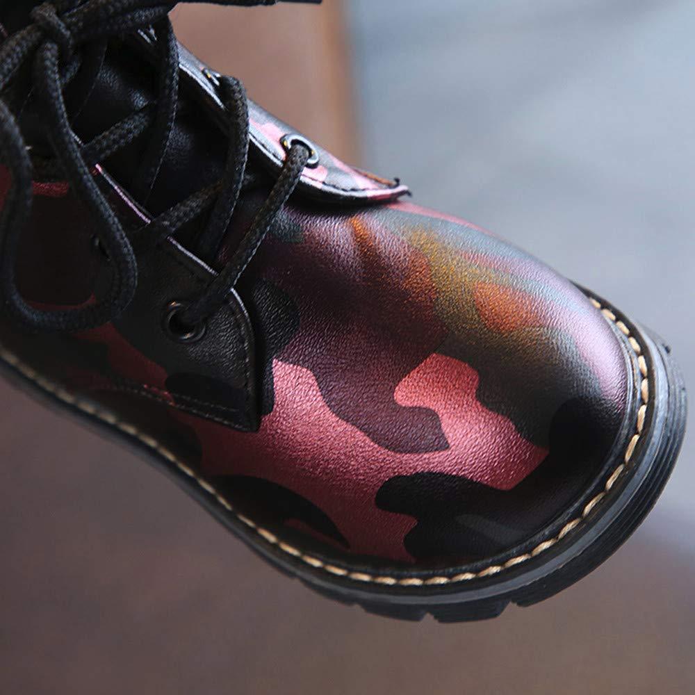 Botas Niño Invierno,ZARLLE Botas para niños Cuero de Camuflaje Unisex Botas de Goma para bebés A Prueba de Agua Niñas de Moda Niños Boots: Amazon.es: Ropa y ...