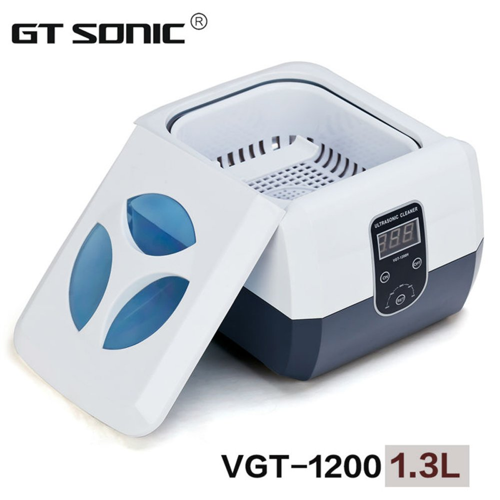 VGT-1200 Professional Jewelry, Razor blades, Denture, Nail Tools Combs ultrasonic cleaner 1.3L with Timer 110V, 220V by GT SONIC