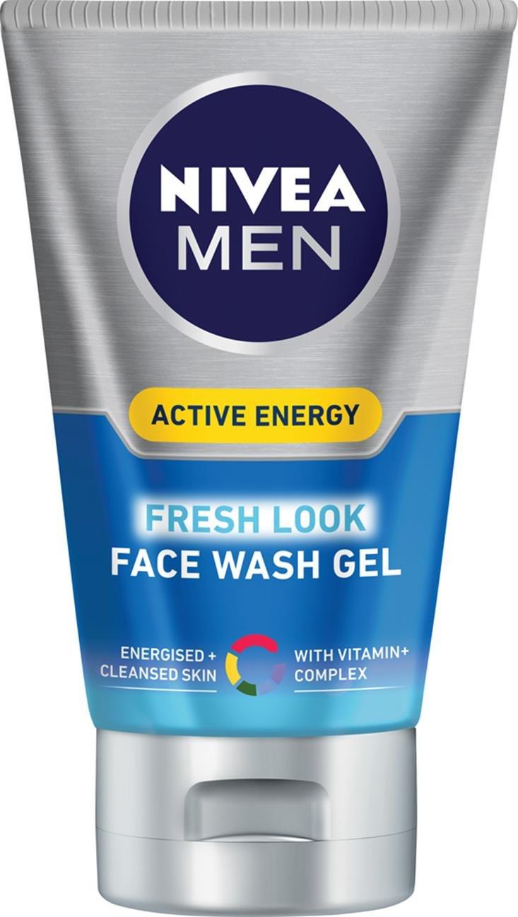 NIVEA MEN Active Energy Fresh Look Face Wash, 100 ml, Pack of 3 Beiersdorf Uk Ltd 88885