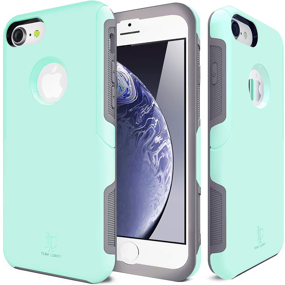 TEAM LUXURY [Defense-x Series Case for iPhone 7 & 8, [Shock Absorbent] Premium Protective Phone Case (4.7 Inch) - Soft Mint by TEAM LUXURY