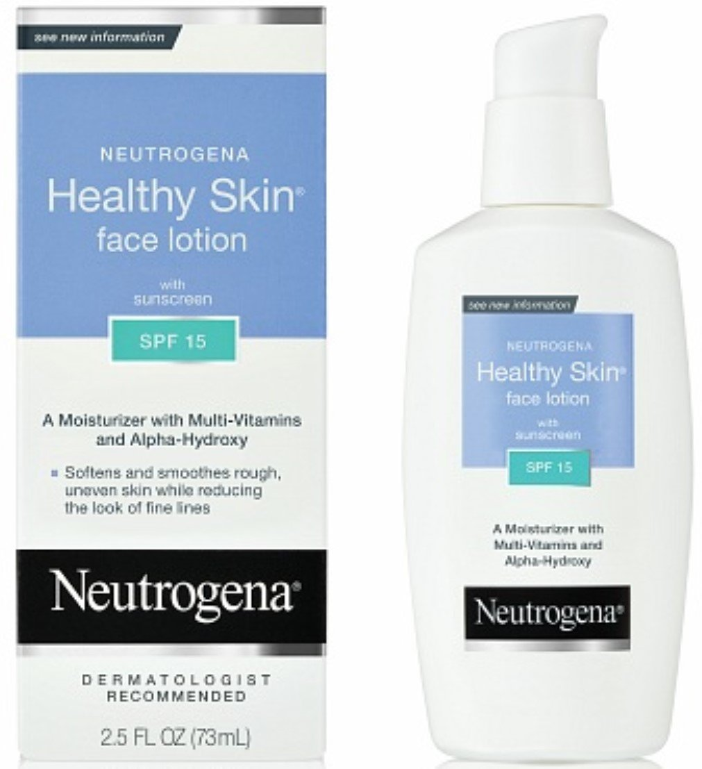 Neutrogena Healthy Skin Face Lotion, SPF 15, 2.5 Ounce (Pack of 2) by Neutrogena