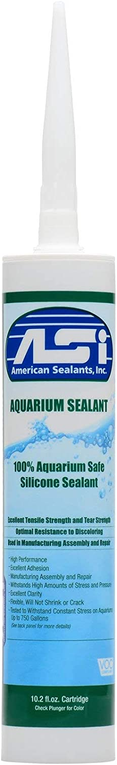Clear Aquarium Silicone Sealant - 10.2 Fluid oz Cartridge