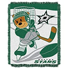 NHL Dallas Stars Score Woven Jacquard Baby Throw Blanket, 36x46-Inch