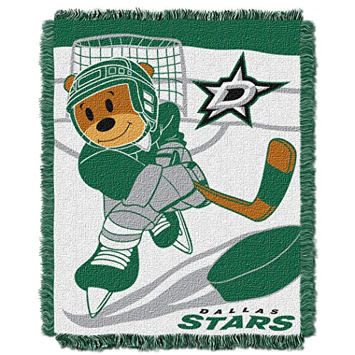 The Northwest Company Officially Licensed NHL Dallas Stars Score Woven Jacquard Baby Throw Blanket, 36