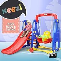 Keezi Kids Play Set Playground Slide Swing Basketball Hoop