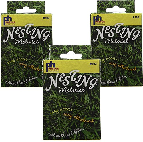 Bird Nesting Material - (3 Pack) Prevue Pet Products Cotton Thread Fibers Bird Nesting Material