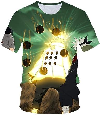 TSHIMEN Camisetas Hombre Naruto 2019 el más Nuevo Harajuku Naruto 3D impresión Fresca Camiseta Hombres/Mujeres Manga Corta Camiseta Summer Tops Tees S-3XL Cyan-Blue: Amazon.es: Ropa y accesorios