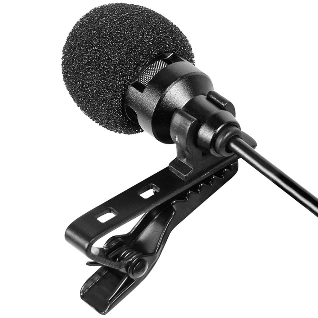 3.5mm Jack Gold Plated Hands Free Lapel Tie Clip on Omnidirectional Microphone MIC for iPhone Samsung Laptop PC 1.5m//5ft MonkeyJack Condenser Microphone