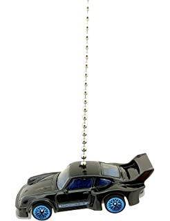 Hot Wheels PORSCHE Diecast Car Ceiling Fan Light Pull & Ornament 1:64 Scale (