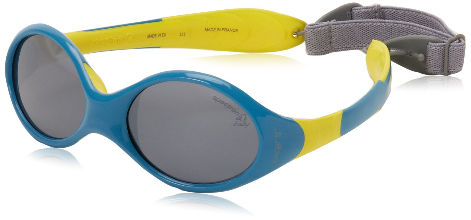 Julbo Looping III Toddler Sunglasses, Spectron 4 Baby Lens, Blue/Yellow, 2-4-Years