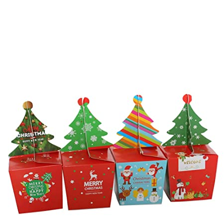 Christmas Festival Cartoon Images.4pcs Cute Cartoon Gift Fruit Candy Box For Wedding Christmas