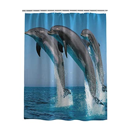 Humor Pattern Shower Curtain Fabric Decor Set with Hooks 4 Sizes