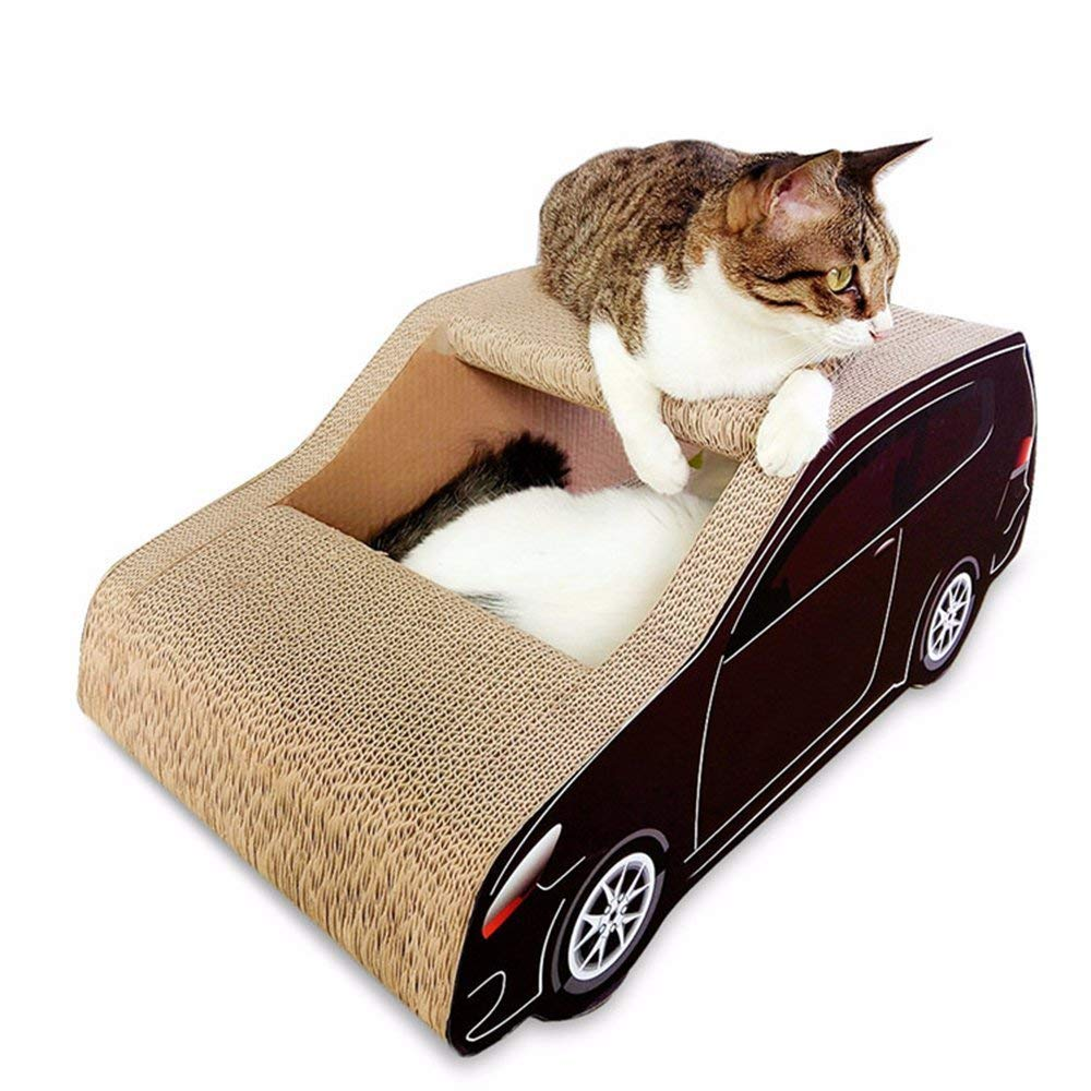 AYLS Corrugated Cat Scratchboard Cat Litter Durable Environmental Predection Cat Claw Toy Car Cat Scraper Pet Furniture