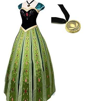 de2f87b99b188 アナと雪の女王 アナ ドレス コスチューム レディース アナ コスプレ衣装 ...