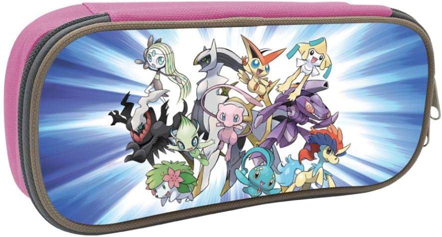 Pokemon Anime Student Stationery Bag School Pen Bag - Estuche escolar para niñas y niños, Rosa, ONE_SIZE: Amazon.es: Amazon.es