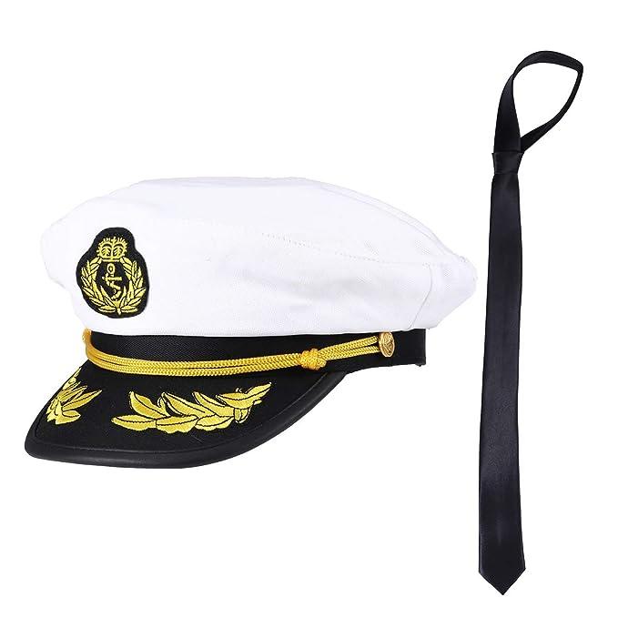 Amosfun Capitán Sombrero y Corbata Uniforme de Marinero ...