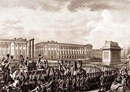 PAINTING FRENCH REVOLUTION HELMAN LOUIS XVI EXECUTION ART PRINT POSTER LF1758