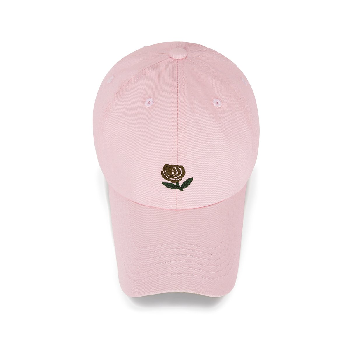 CHOSUR Baseball Cap Cotton Dad Golf Hat Cute Pink Cap for Girls Adjusable Snapback Hip Hop Cap with Flower Rose Embroidery (Pink)