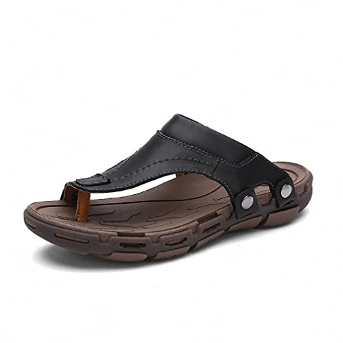 8336c5be5 SV Comfort Luxury NEW New Men s Flip Flops Genuine Leather Slippers Summer  Fashion Beach Sandals Shoes