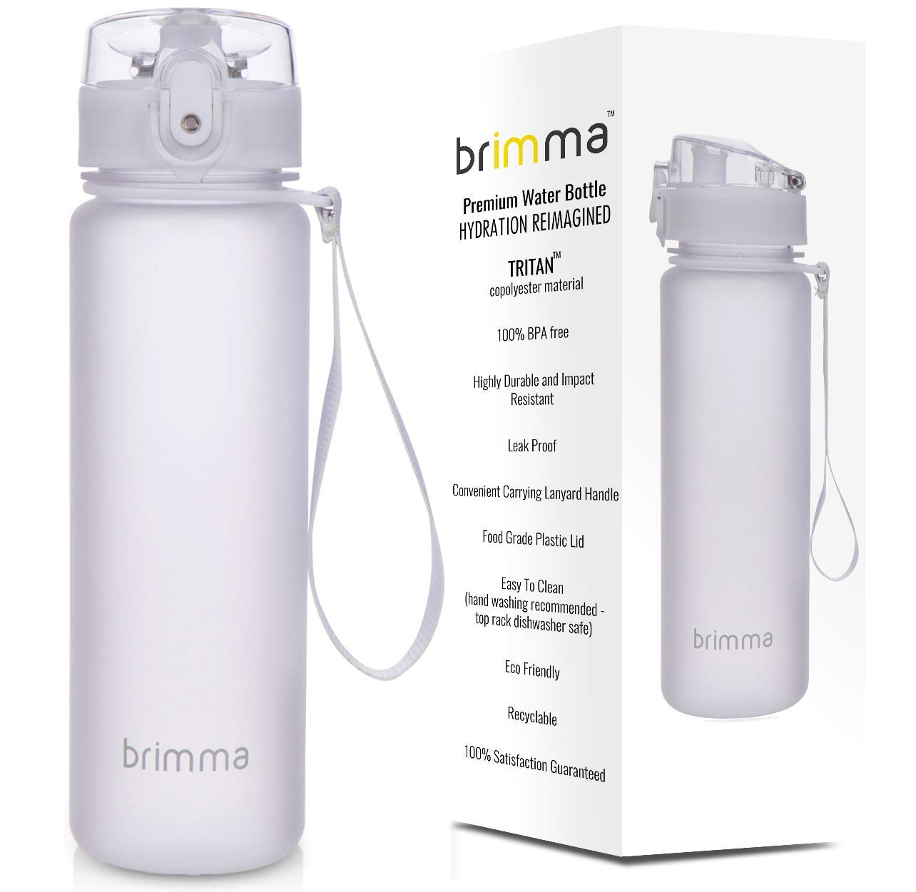 Reusable Non-Toxic BPA Free Travel Waterbottle with Spill Proof Flip Top Cap and Infuser Insert Gray ENGETI Leak Proof Sports Water Bottle 32 Ounce: Hydration Drink Bottles for Workout Gym and Cycling Biking