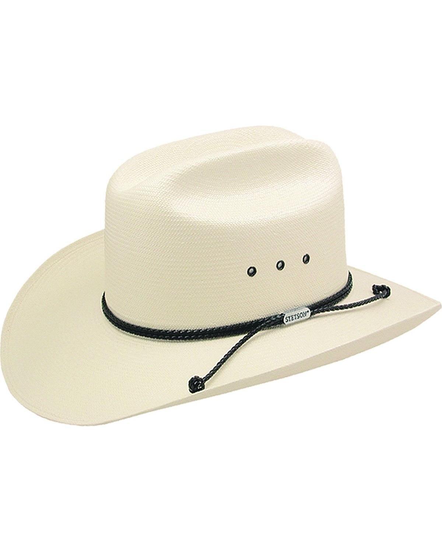 Stetson Men's Carson 10X Shantung Straw Cowboy Hat Natural 7 1/2
