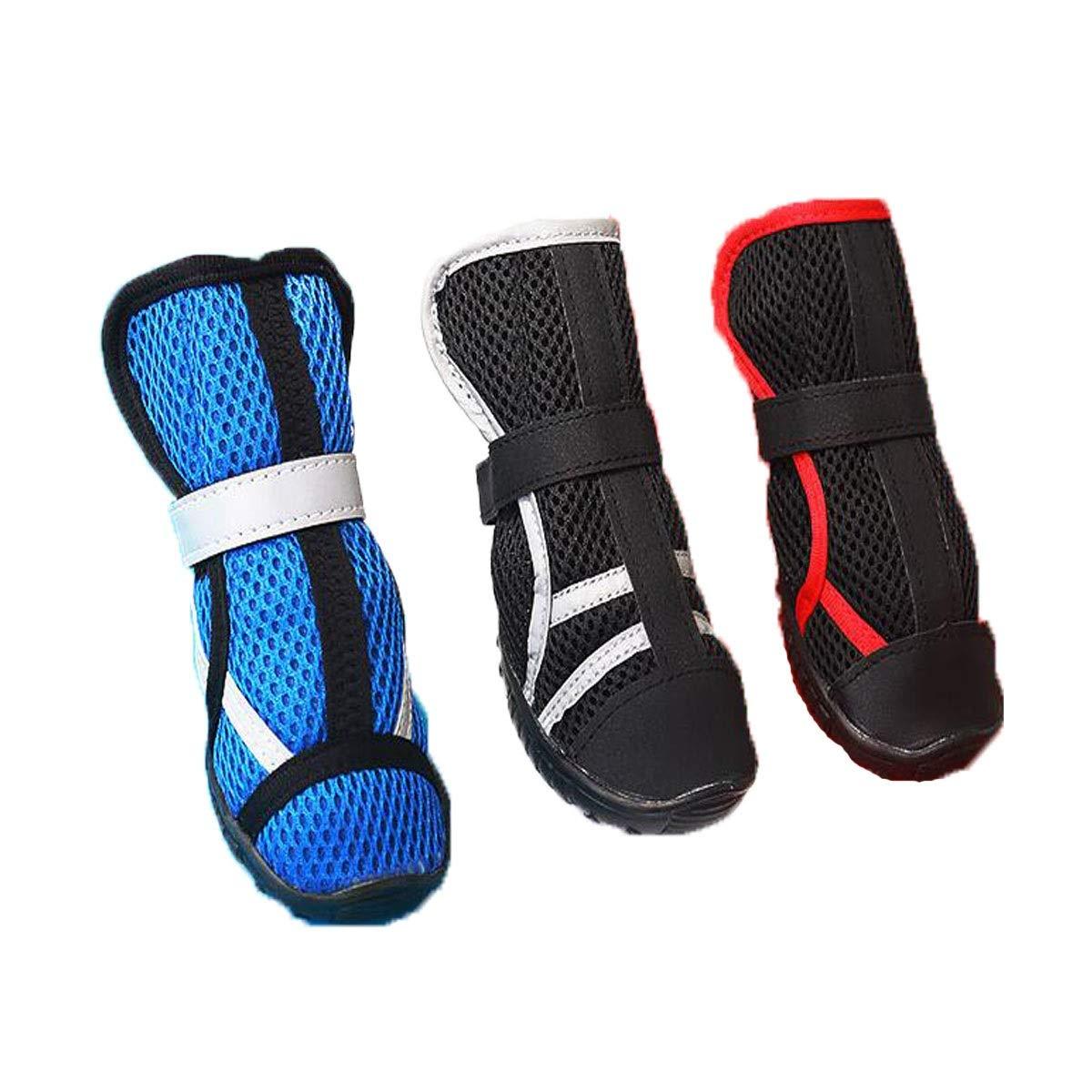 Black M Black M Muziwenju Dog shoes, Big Dog Sports Net shoes, Non-Slip shoes, Pet Supplies, bluee, Black, (XS- L) (color   Black, Size   M)