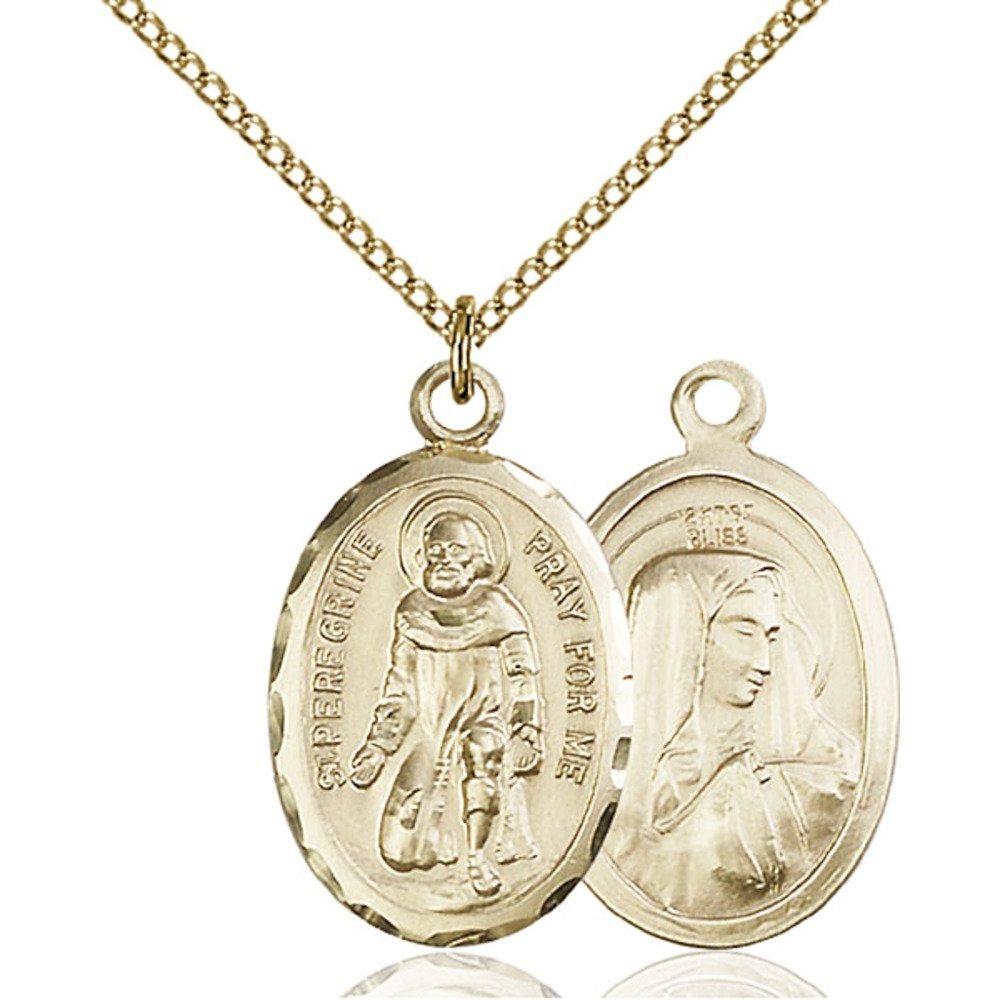 Bonyak Jewelry 金張り St. ペレグリンペンダント St. 1 x 5 1/8インチ B00P5NWP6E 金張りライトカーブチェーン B00P5NWP6E, MandA:4f3b5bf7 --- ijpba.info
