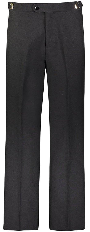 Men's Modern Fit Flat Front Tuxedo Pants - Comfort Fit Expandable Waist