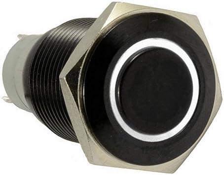 E Support Schwarz Shell Engel Auge Kfz Auto Kippschalter Druckschalter Schalter Drucktaster Druckknopf 16mm 12v 3a Weiß Led Licht Metall Auto