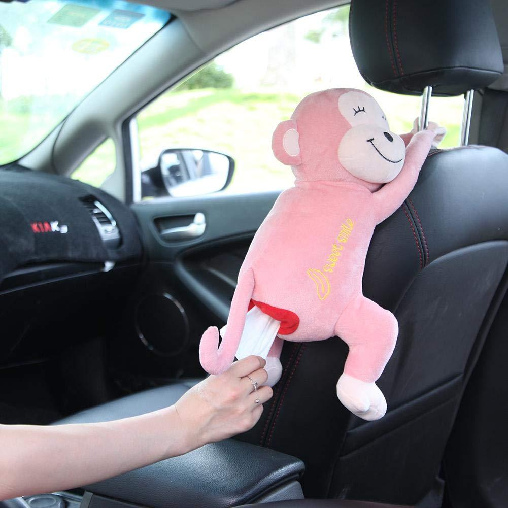 rosemaryrose Supporto per Scatola di Tessuto per Auto,Supporto per Distributore di Fazzoletti Appeso A Forma di Scimmia di Peluche