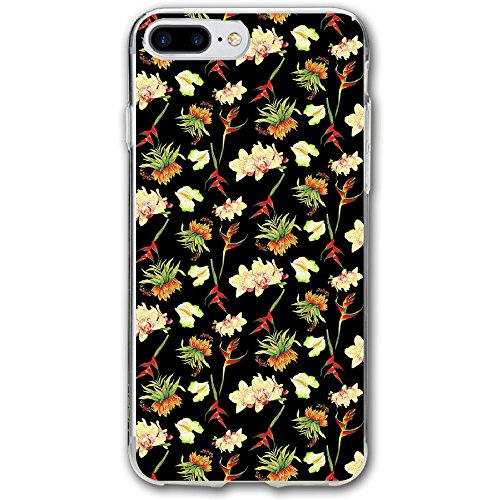 Case For Iphone 7 Plus Tropical Island Flowers Backgroud Slim Fit Shell Full Protective Anti-Scratch Resistant Cover Apple IPhone 7 Plus (Island Flower Mirror)
