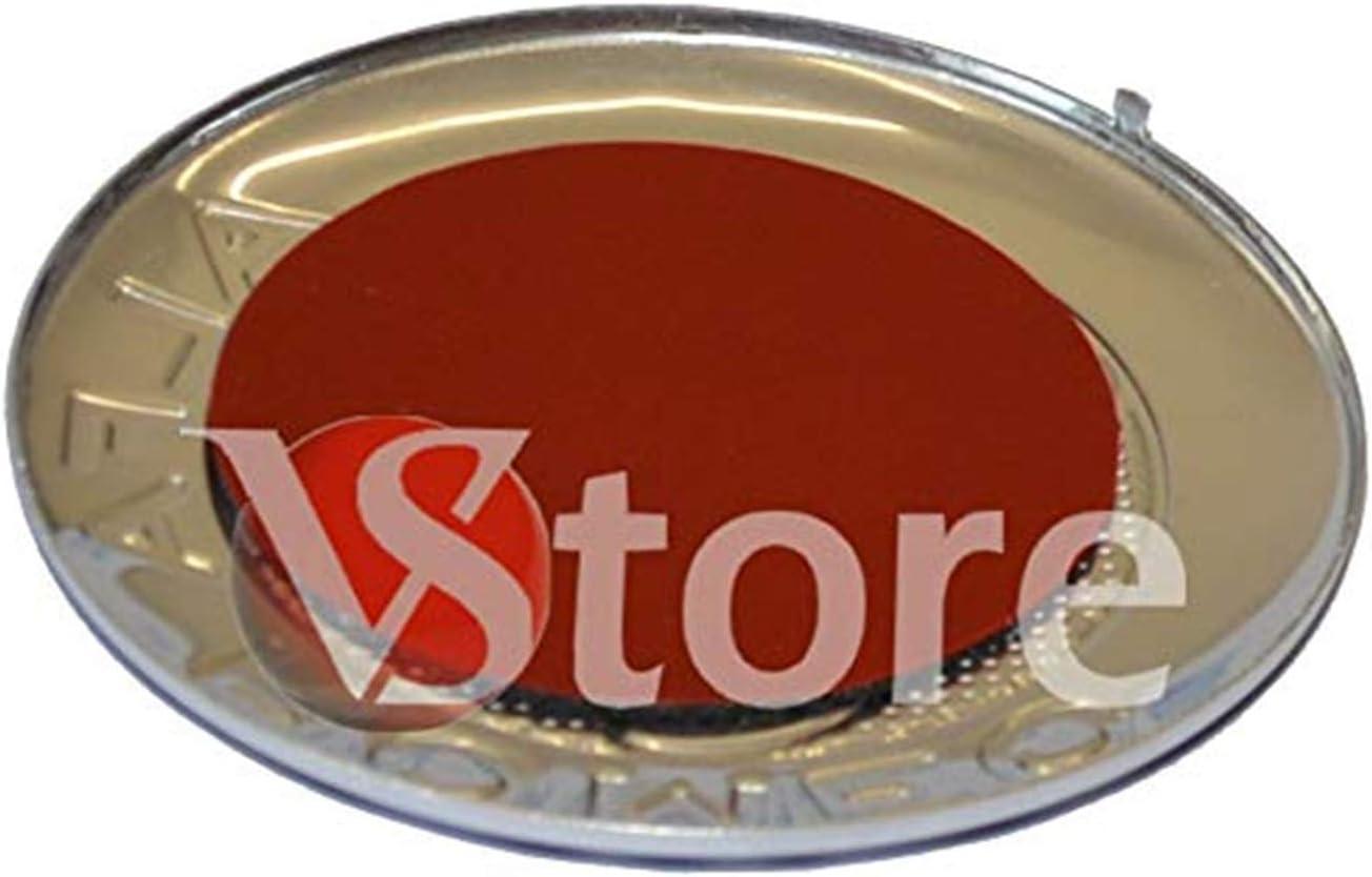 666 2 emblemas Escudo Alfa Romeo Oro 74 mm Capucha Delantera Trasera Emblema Oro 147 156 159 Brera Mito Metal