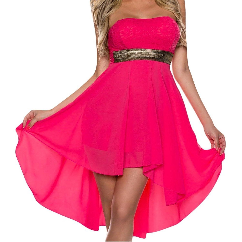 D9Q Frauen Sommer Reizvolle Spitze Ballkleid elegante trägerlose Abend Partei Kleid